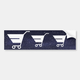 Grocery Carts Minimal Bumper Sticker