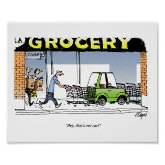 Grocery Carts Poster