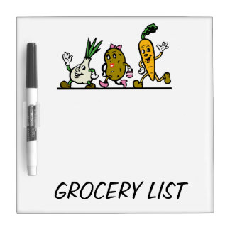 GROCERY LIST Dry-Erase BOARD