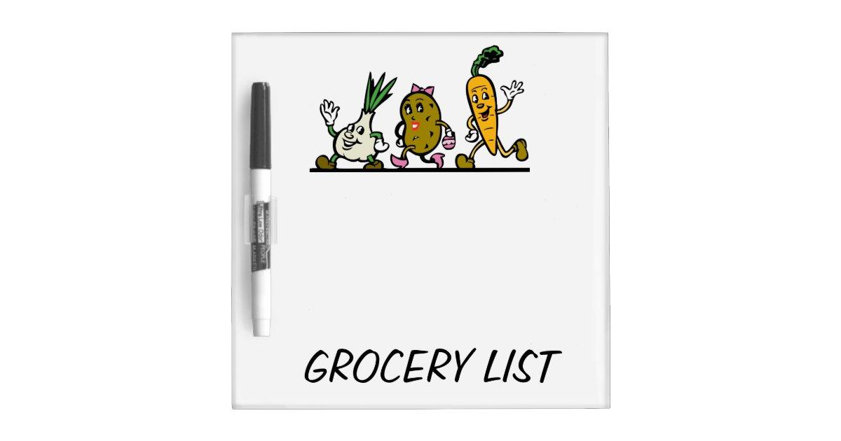 grocery list dry