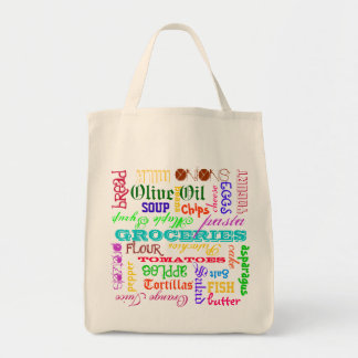 Grocery List Grocery Tote Bag
