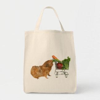 Grocery Shopping Guinea Pig Canvas Bag
