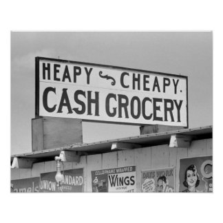 Grocery Sign, 1939 Poster
