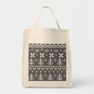 Grocery simple tote with Folk ornaments
