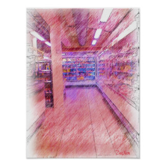 grocery store poster