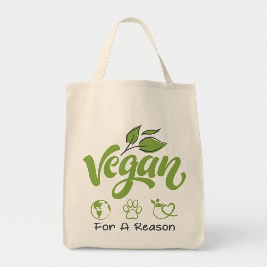 Grocery Tote Bag Designed For Vegans