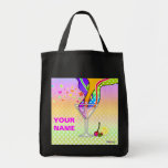 Grocery Tote Bag - Maxxed Pop Art Martini