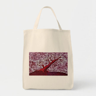Grocery Tote Bag with Tree