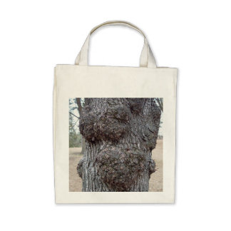 Grocery tote featuring tree bark photo. tote bag