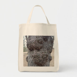 Grocery tote featuring tree bark photo. grocery tote bag