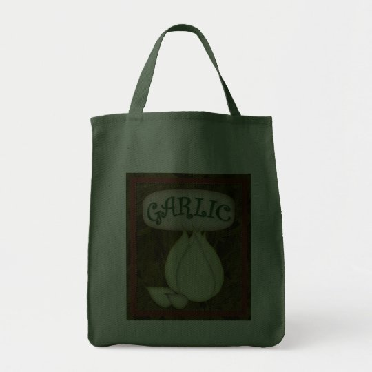Grocery Tote-Garlic