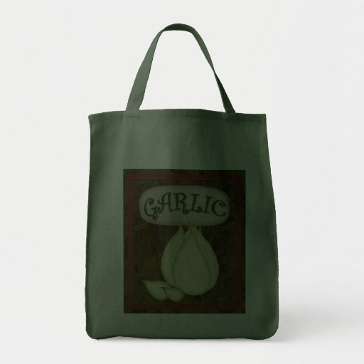 Grocery Tote-Garlic Grocery Tote Bag