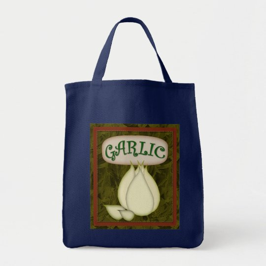 Grocery Tote-Garlic Tote Bag