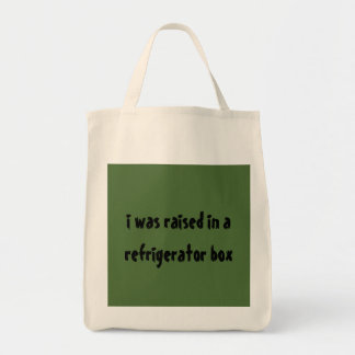 Grocery Tote raised in refrigerator box Grocery Tote Bag