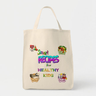 Grocery Tote Smart Recipes for Healthy kids Grocery Tote Bag