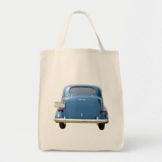 Grocery Tote - Vintage Blue Chevy Father's Day Canvas Bag