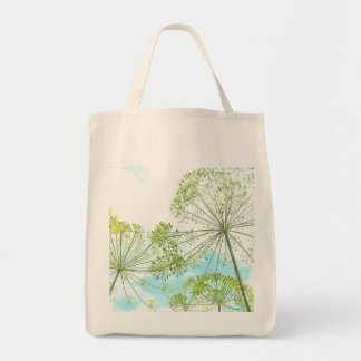 "Grocery Tote with ""Dill Garden"" Photograph Grocery Tote Bag"