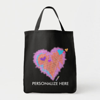GROCERY TOTES - Cross My Heart Grocery Tote Bag
