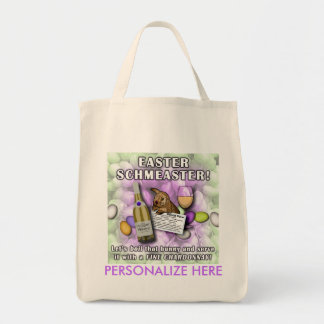 GROCERY TOTES - EASTER SCHMEASTER TOTE BAG