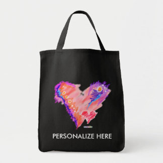 GROCERY TOTES - Heart Felt Grocery Tote Bag