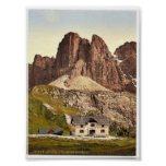 Grodnerjoch, hospice and Sella, Tyrol, Austro-Hung Poster