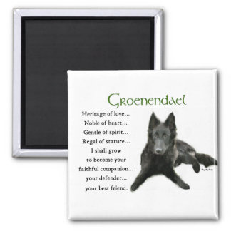 Groenendael Belgian Sheepdog Gifts Square Magnet