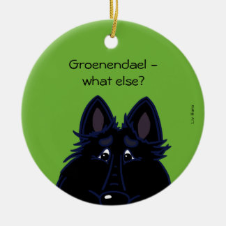 Groenendael - does else what? round ceramic decoration