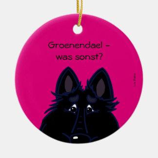 Groenendael - which otherwise? round ceramic decoration