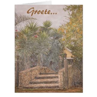 Groete van ons huis na julle huis greeting cards
