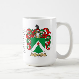 Grogan, the Origin, the Meaning and the Crest Coffee Mug