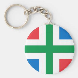 Groningen Flag Netherlands country region Key Chains