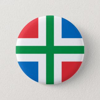 Groningen, Netherlands flag 6 Cm Round Badge