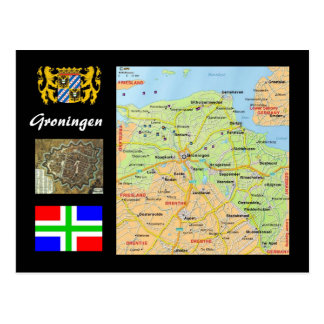 Groningen- The Netherlands map Postcard