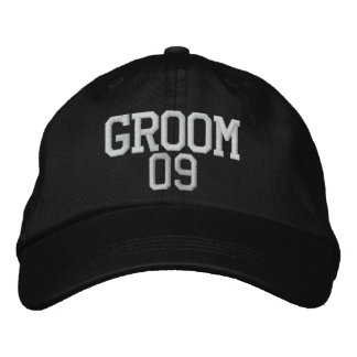 Groom: 09 Customizable Wedding Hat Embroidered Cap