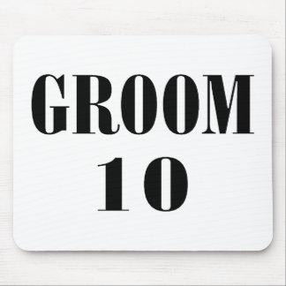 Groom 10 Black Mouse Pad