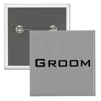 Groom 15 Cm Square Badge