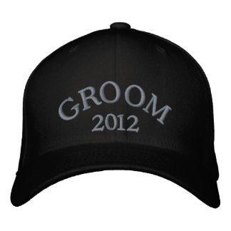 Groom 2012 embroidered hats