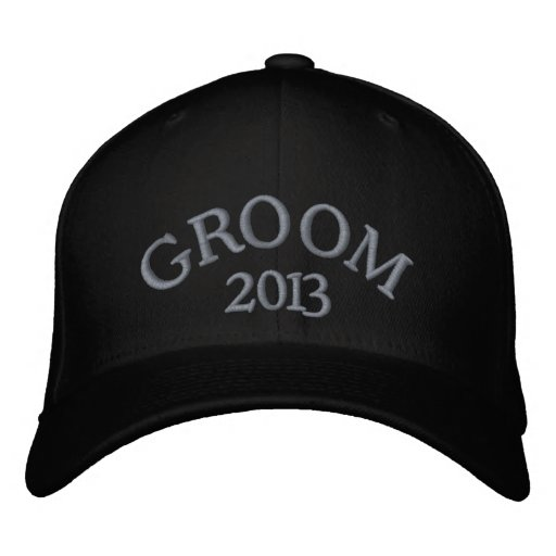 Groom 2013 embroidered hats