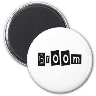 Groom 6 Cm Round Magnet