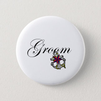 Groom Anchor 6 Cm Round Badge