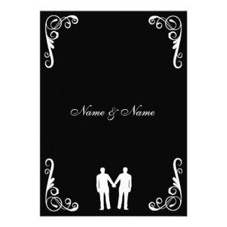 Groom and Groom Gay Wedding Invite