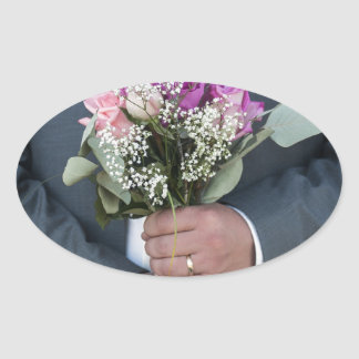 Groom and his Bride s Bouquet Sticker
