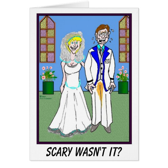 GROOM AND PEED PANTS wedding card