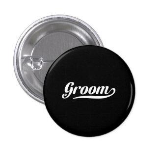 Groom 3 Cm Round Badge