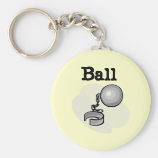 Groom Ball and Chain Tshirts and Gifts Basic Round Button Key Ring