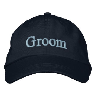 Groom baseball hat embroidered hat