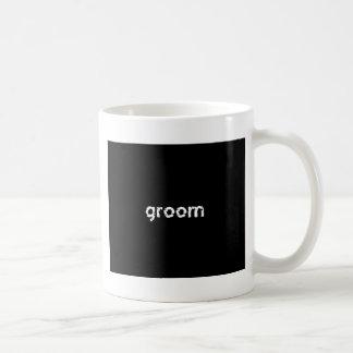 Groom Basic White Mug