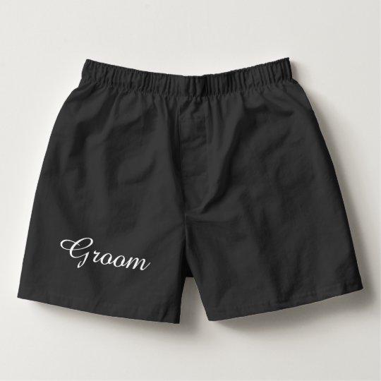 Groom Black Boxer Shorts Boxers