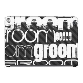 Groom; Black & Dark Gray Stripes iPad Mini Retina Case