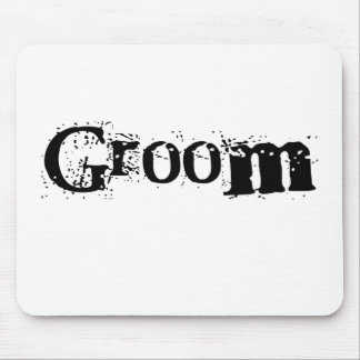 Groom Black Text Mouse Pad